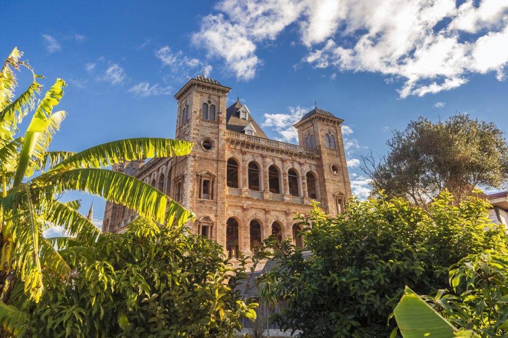 The rebuild palace of Rova in Antananarivo