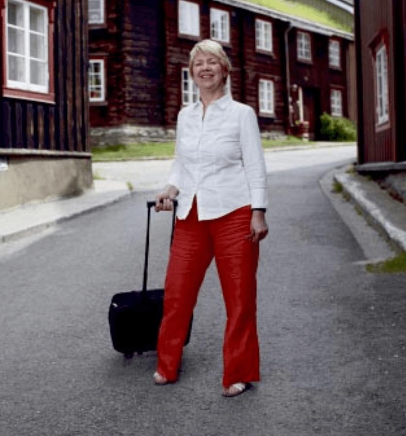 Trilletur Gretha midt i hovedgata på Røros
