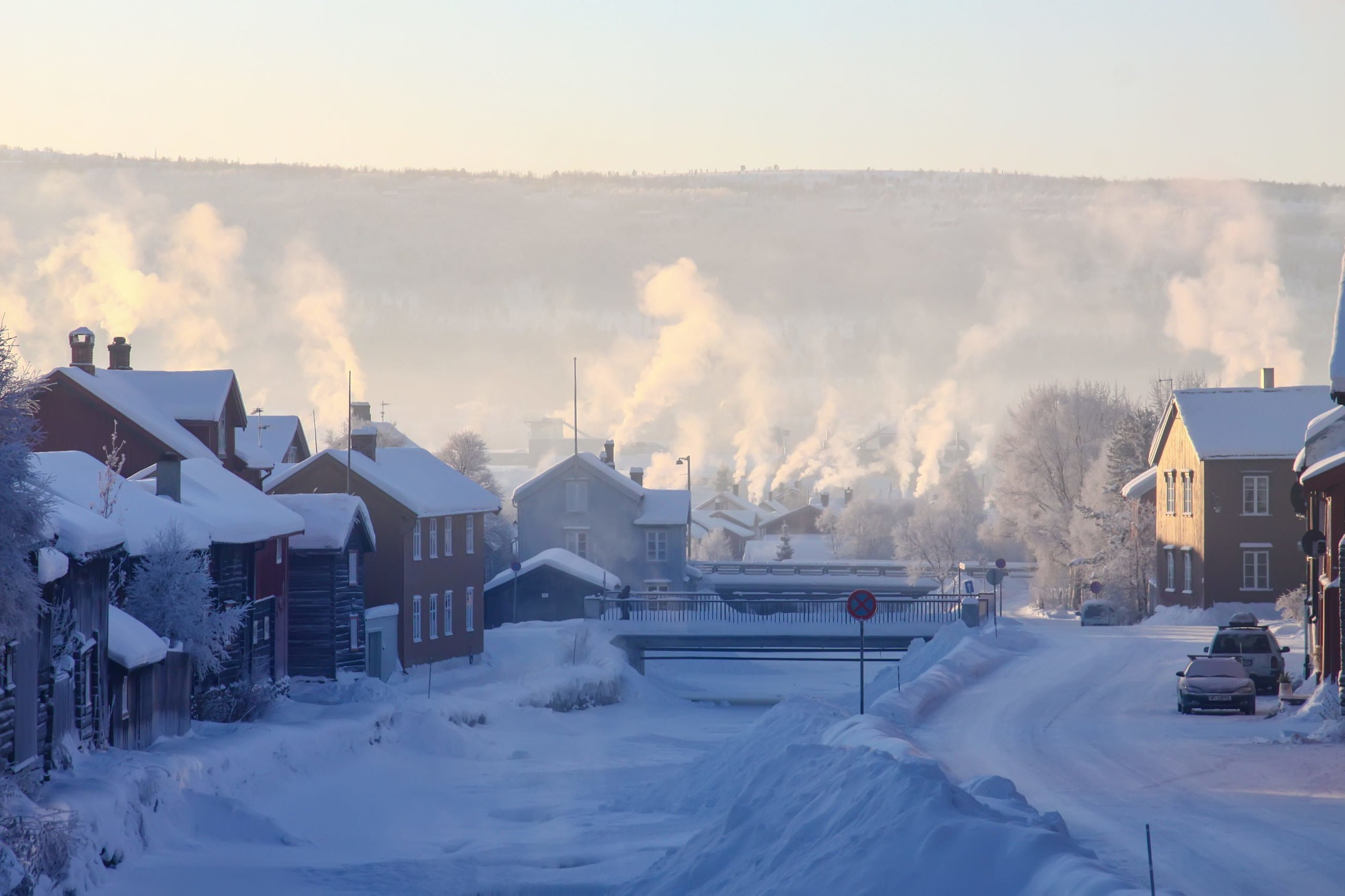 Røros by i vinterskrud