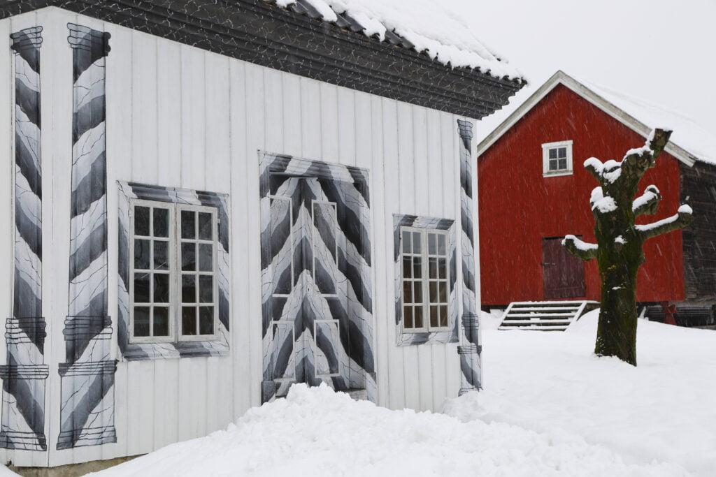 Fossesholm Herregard ådring på ytterkledning Foto: Dagfinn Kolberg
