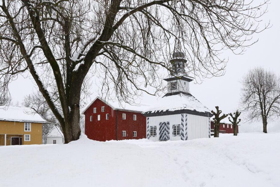 Vinter på Fossesholm Herregård Foto: Dagfinn Kolberg